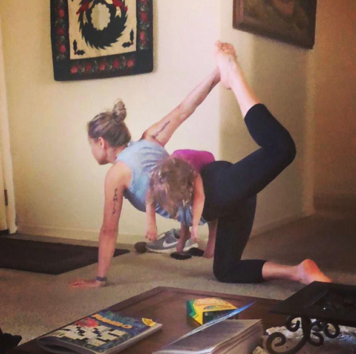 I'm a holistic, yoga mom