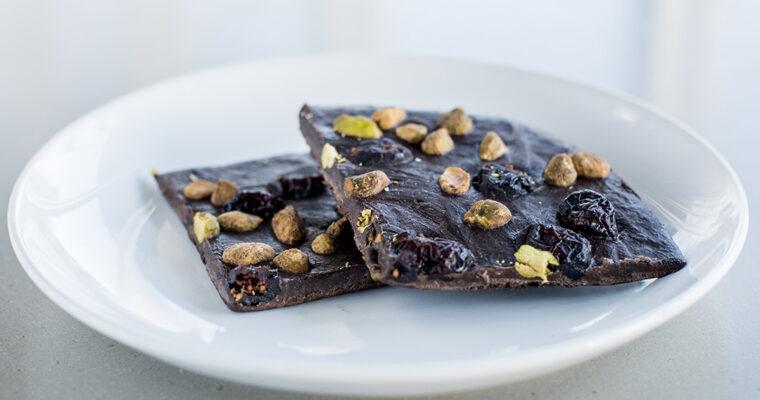 Pistachio Cranberry Chocolate Bark